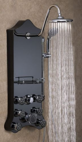 Jet-Pro Shower Spa Royal Black Mirrored