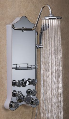 Jet-Pro Shower Spa Royal Silver Mirrored